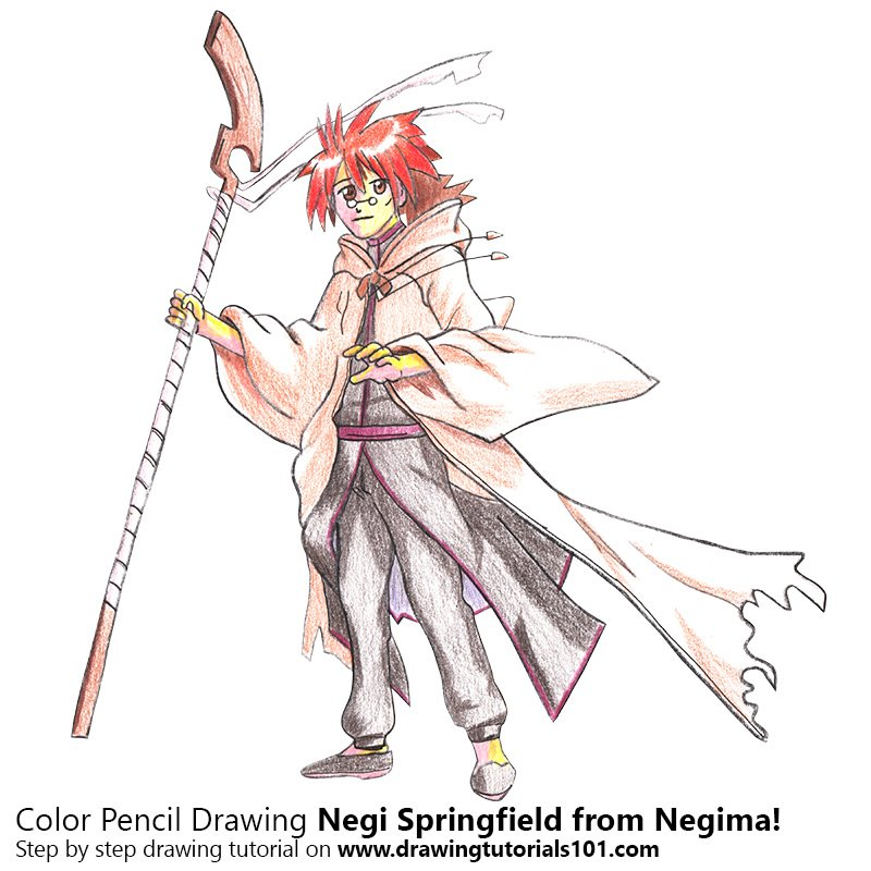 negima anime coloring pages - photo#23