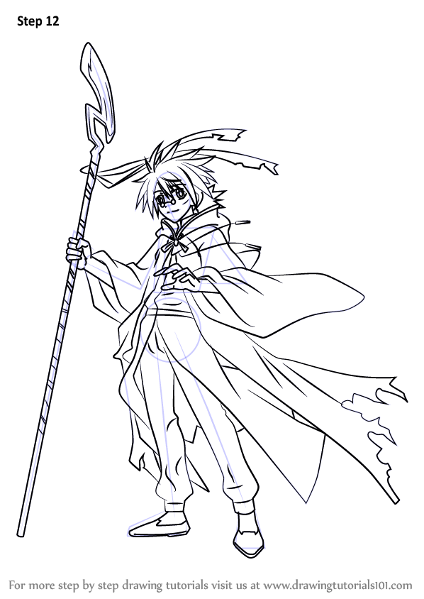 negima anime coloring pages - photo#1