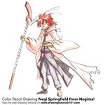 How to Draw Negi Springfield from Negima!
