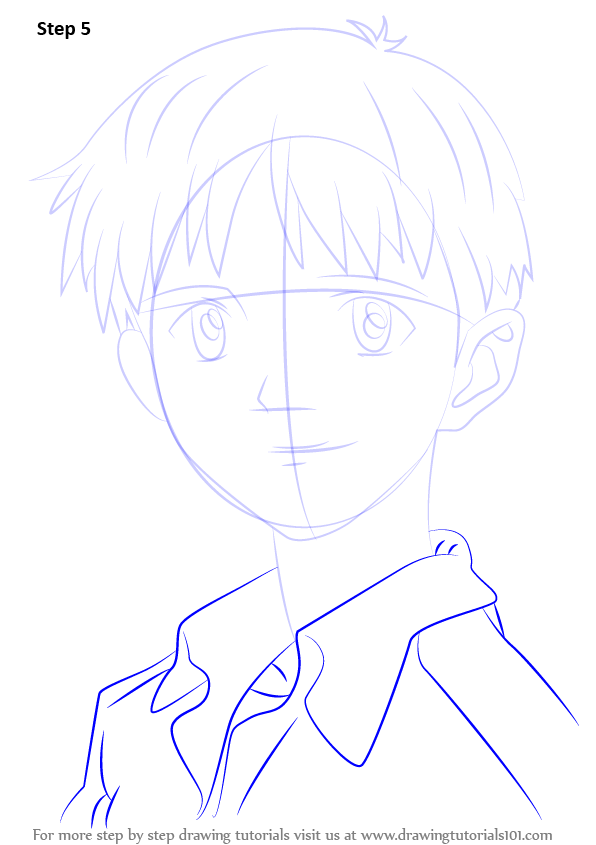 Learn How To Draw Shinji Ikari From Neon Genesis