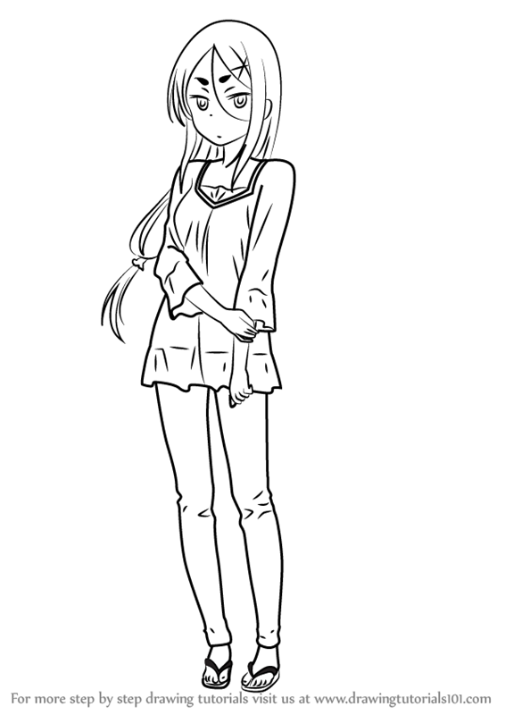 how to draw ahagon umiko from new game