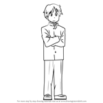 How to Draw Kenzaburou Daiku from Nichijou