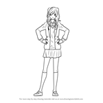 How to Draw Mari Tsutsui from Nijiiro Days