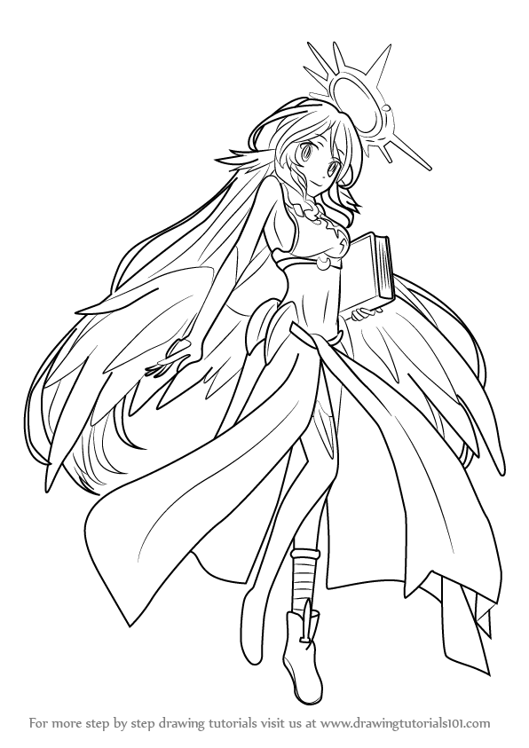 Learn How to Draw Jibril from No Game No Life (No Game No ...