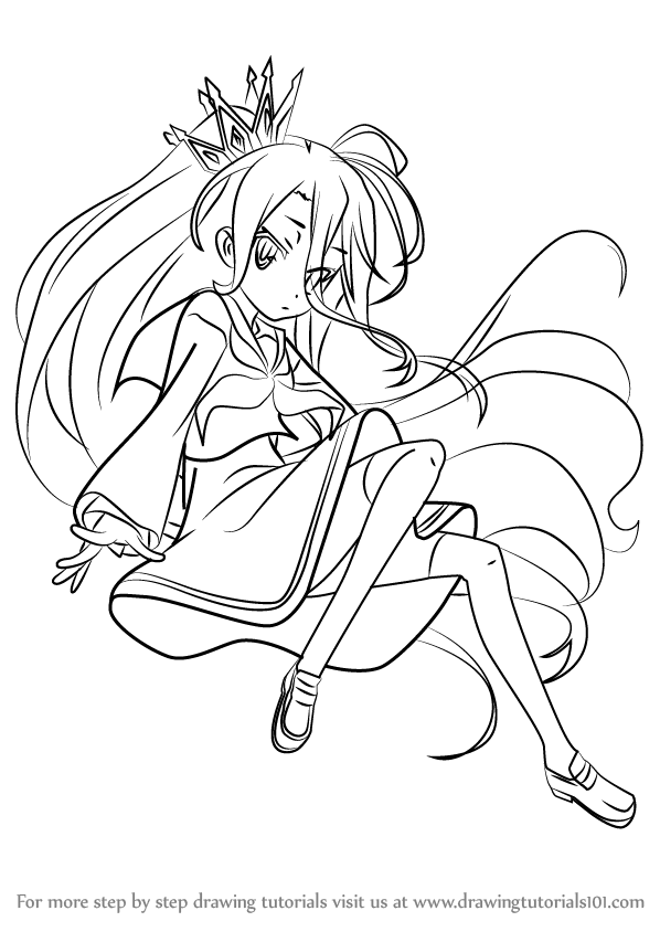 Learn How to Draw Shiro from No Game No Life (No Game No ...