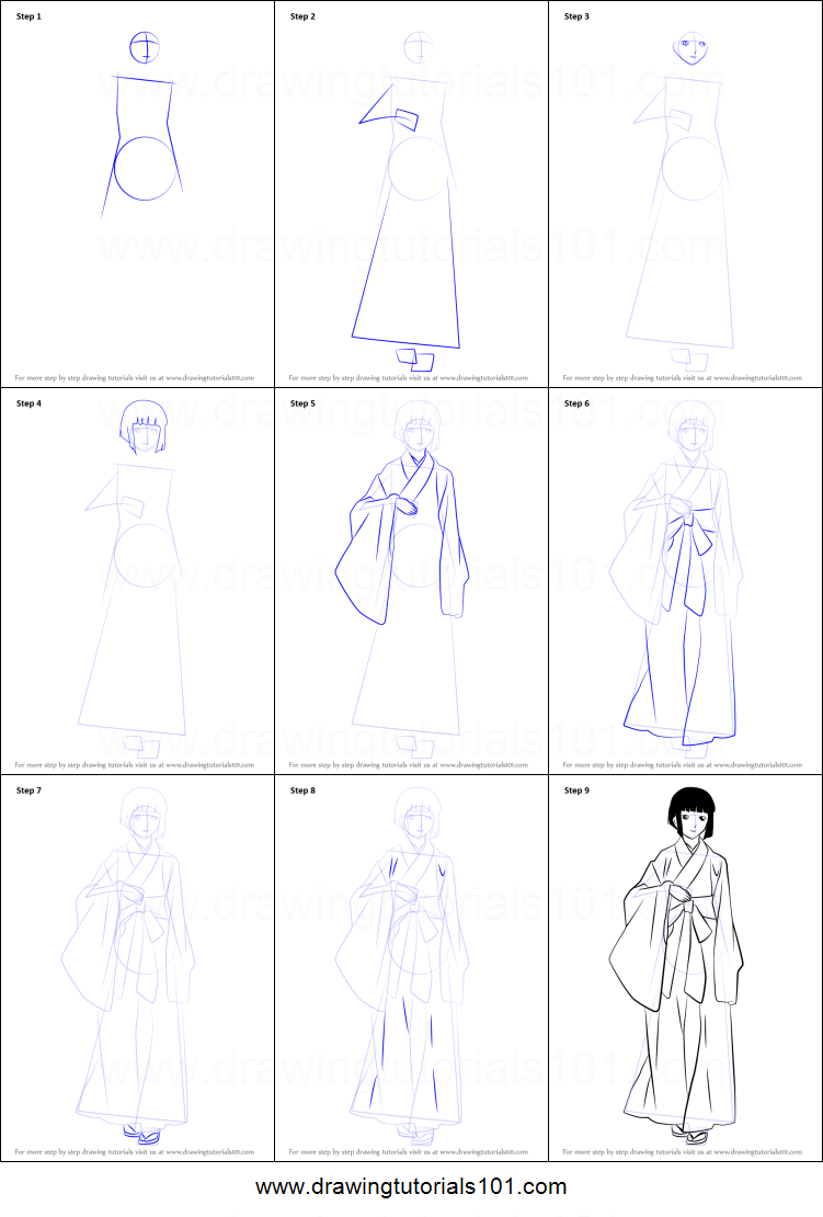 How To Draw Mayu From Noragami Printable Step By Step Drawing Sheet