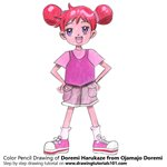 How to Draw Doremi Harukaze from Ojamajo Doremi