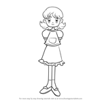 How to Draw Nanako Okada from Ojamajo Doremi