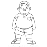 How to Draw Susumu Yanagida from Ojamajo Doremi