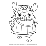 How to Draw Chopper Kung Fu Point from One Piece