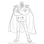 How to Draw Garp from One Piece