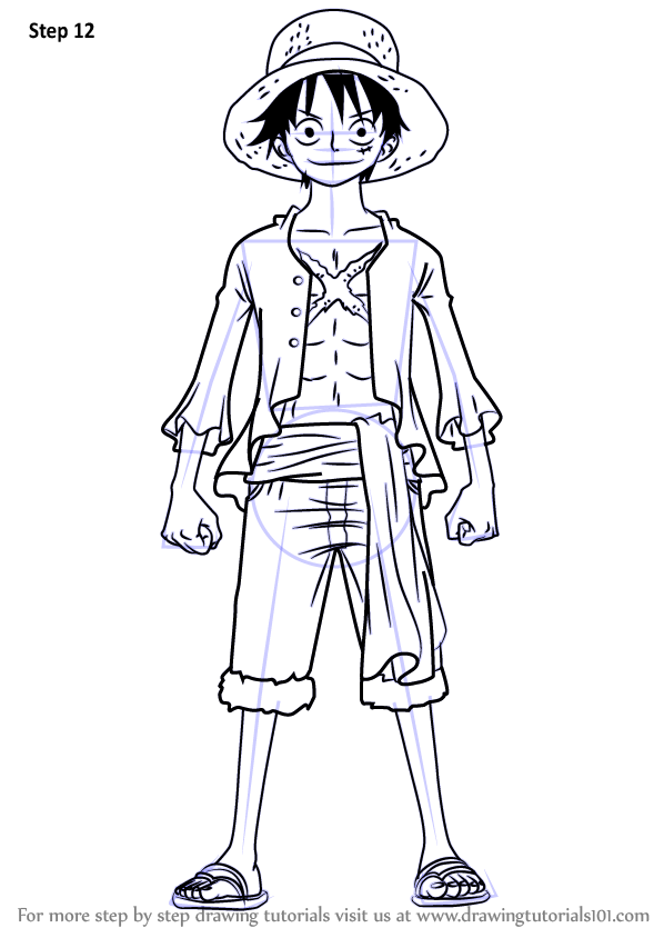 Learn How to Draw Monkey D Luffy
