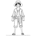 How to Draw Monkey D. Luffy Full Body from One Piece