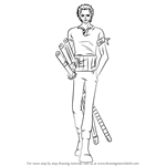 How to Draw Roronoa Zoro from One Piece