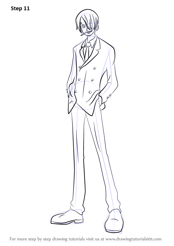 Learn How to Draw Sanji from One Piece (One Piece) Step by ...