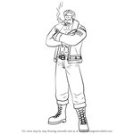 How to Draw Smoker from One Piece
