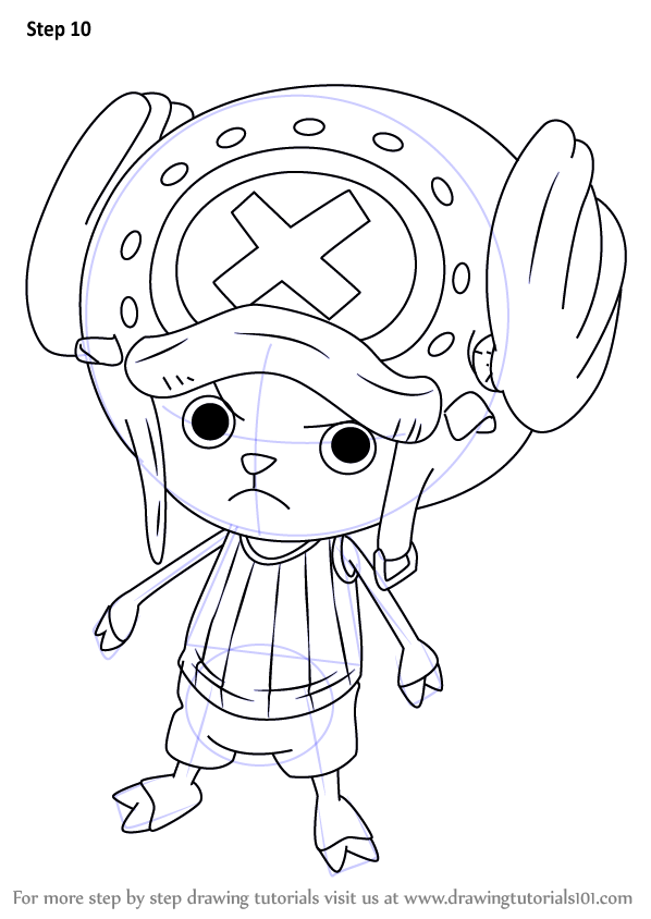 Step By Step How To Draw Tony Tony Chopper From One Piece