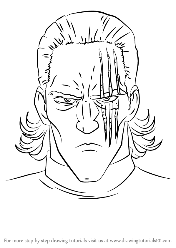 Step by Step How to Draw King from One-Punch Man ...