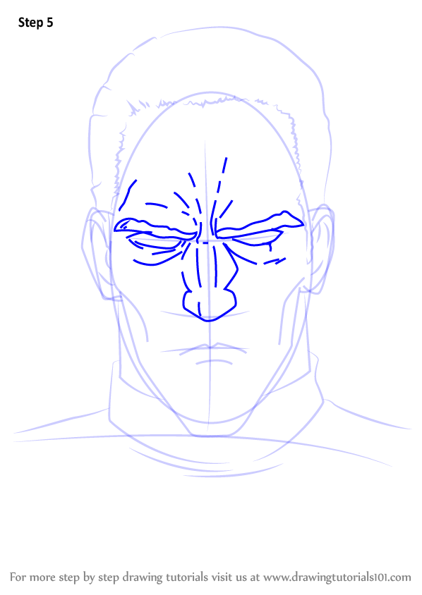 Learn How To Draw King From One Punch Man One Punch Man Step By Step Drawing Tutorials