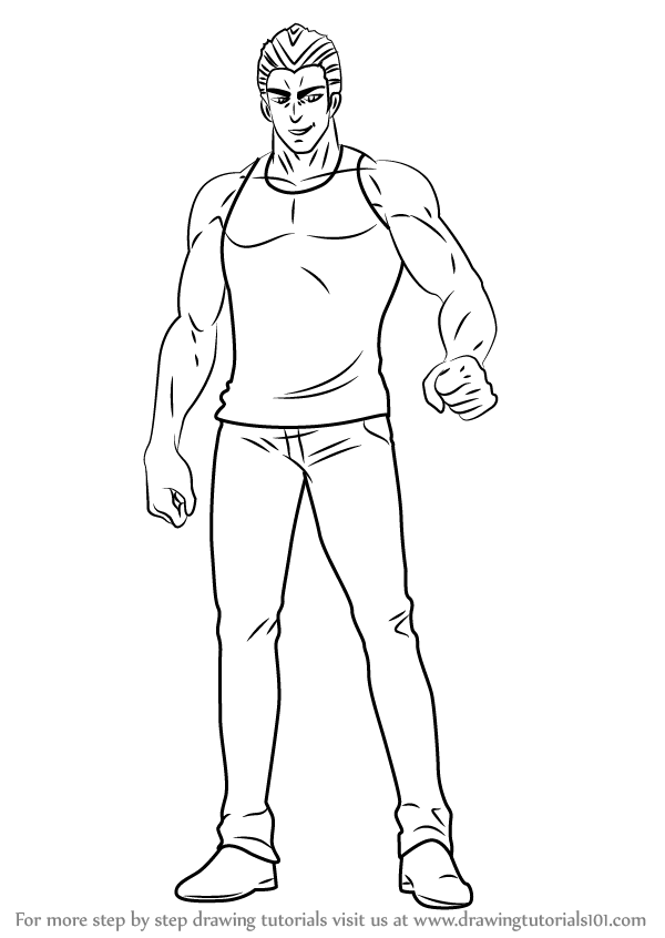 Learn How To Draw Tanktop Tiger From One Punch Man One Punch Man