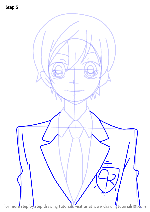 Step By Step How To Draw Haruhi Fujioka From Ouran High