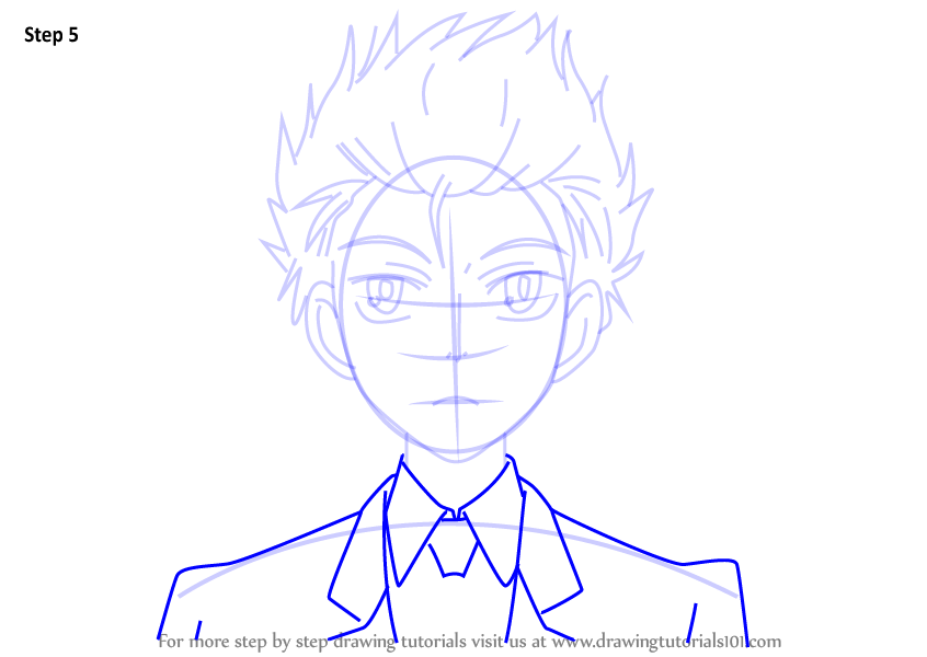 Step By Step How To Draw Hikaru Hitachiin From Ouran High