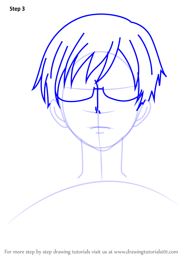 Step By Step How To Draw Kyoya Ootori From Ouran High