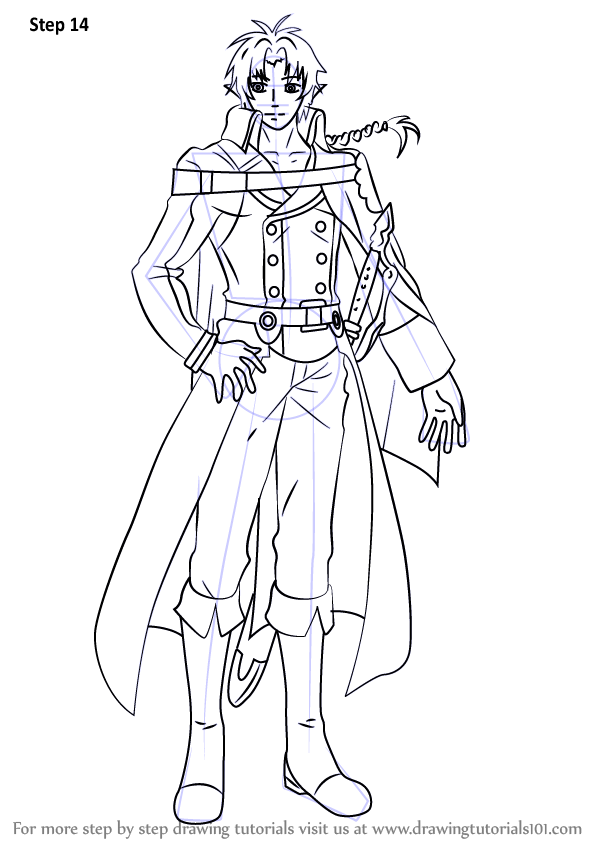 Learn How To Draw Crowley Eusford From Owari No Seraph