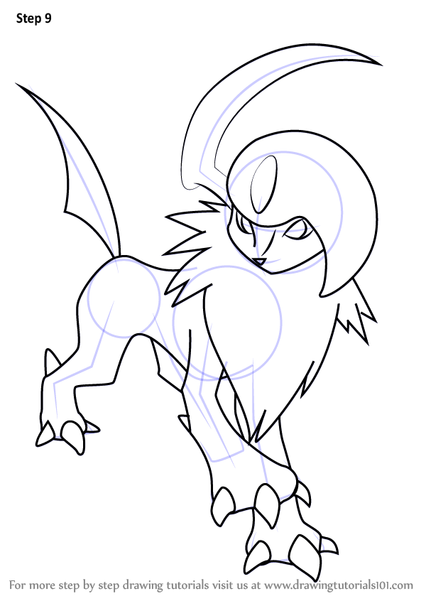Learn How to Draw Absol from Pokemon (Pokemon) Step by ...