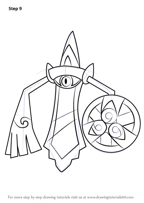 Learn How To Draw Aegislash From Pokemon Pokemon Step By