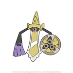 How to Draw Aegislash from Pokemon