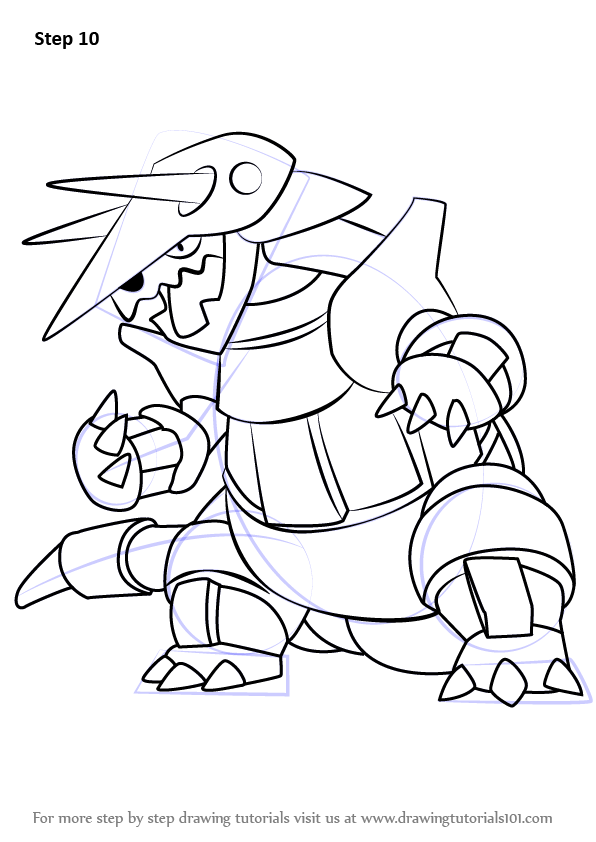 Learn How to Draw Aggron from Pokemon