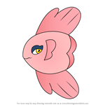 How to Draw Alomomola from Pokemon