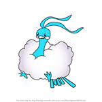 How to Draw Altaria from Pokemon