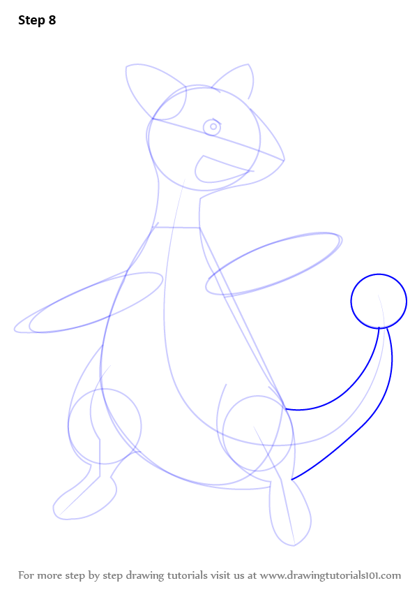 Learn how to draw ampharos from pokemon pokemon step by for Ampharos coloring pages