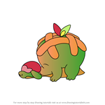 How to Draw Appletun from Pokemon