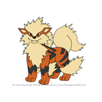 How to Draw Arcanine from Pokemon