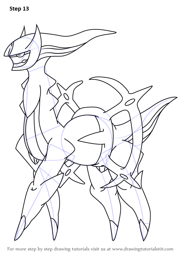 Learn How To Draw Arceus From Pokemon Pokemon Step By Step Drawing Tutorials