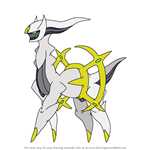 How to Draw Arceus from Pokemon