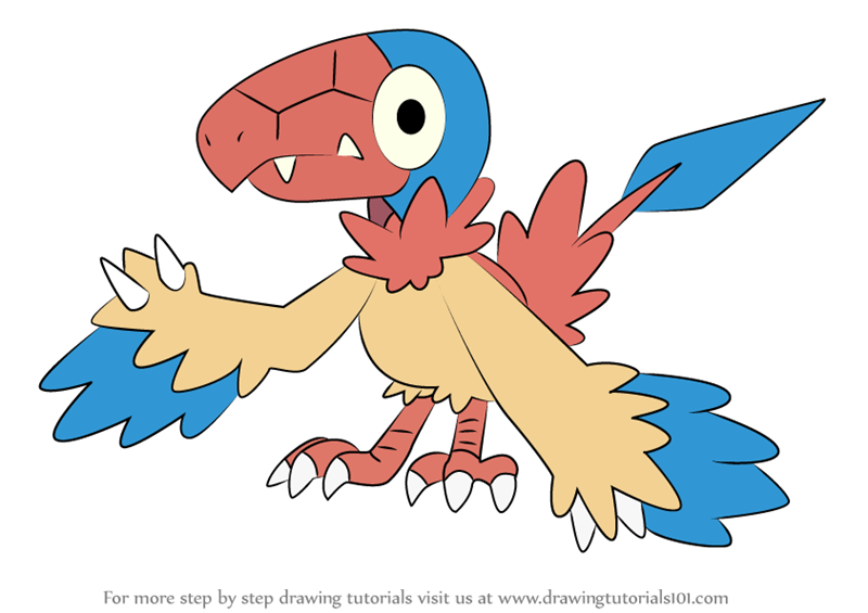 Learn How to Draw Archen from Pokemon Pokemon Step by Step Drawing Tutorials