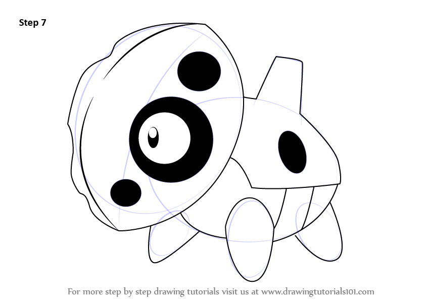 Step By Step How To Draw Aron From Pokemon
