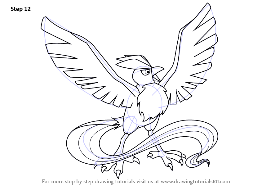 articuno coloring pages - learn how to draw articuno from pokemon pokemon step by