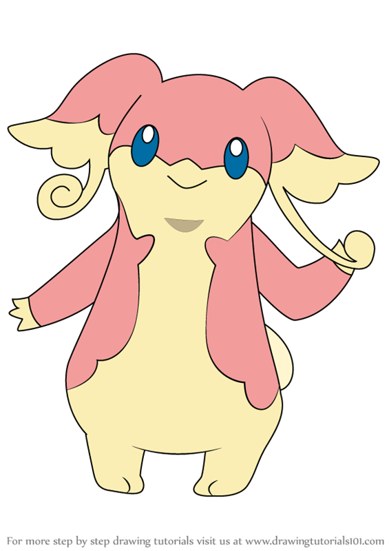 learn how to draw audino from pokemon pokemon step by step
