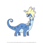 How to Draw Aurorus from Pokemon