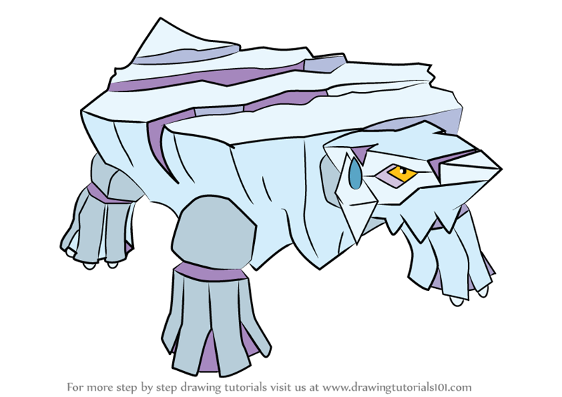 Learn How to Draw Avalugg from Pokemon Pokemon Step by