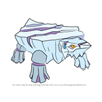 How to Draw Avalugg from Pokemon
