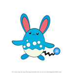 How to Draw Azumarill from Pokemon