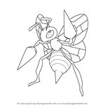 How to Draw Beedril from Pokemon