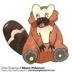 How to Draw Bibarel from Pokemon