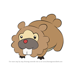 How to Draw Bidoof from Pokemon